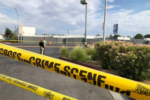 Homicide detectives investigate after a vehicle struck a pedestrian Tuesday, June 22, 2021, at ...
