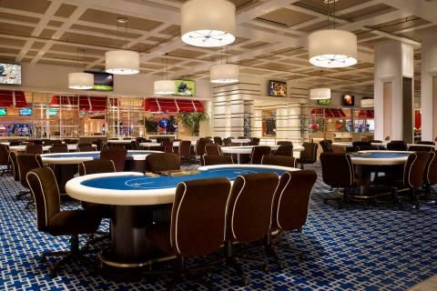 Wynn poker room, located inside Encore. (Barbara Kraft/Wynn Las Vegas)
