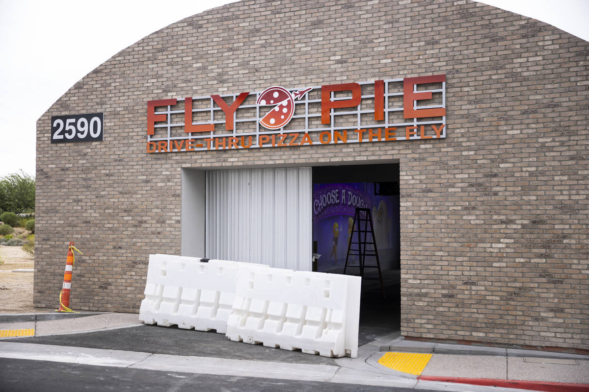 The Fly Pie pizza drive-thru at the intersection of St. Rose Parkway and Coronado Center Drive ...