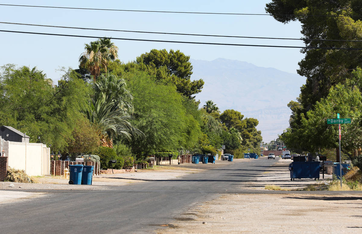 An unincorporated neighborhood in southwest Las Vegas Friday, June 25, 2021. Assembly Bill 363 ...