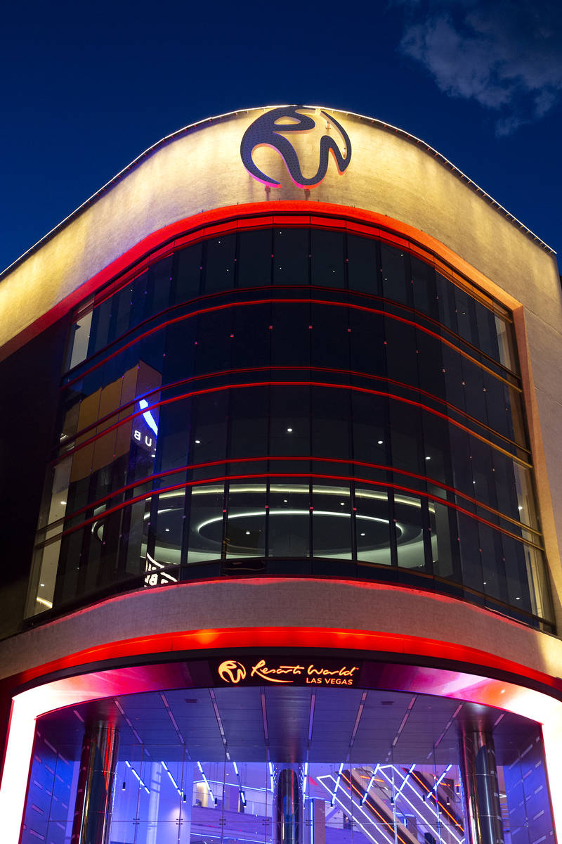 Resorts World Las Vegas ahead of its opening to the public later that evening on Thursday, June ...