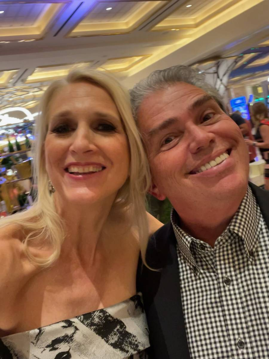 The first selfie of the night taken by Westgate Las Vegas President and General Manager Cami Ch ...