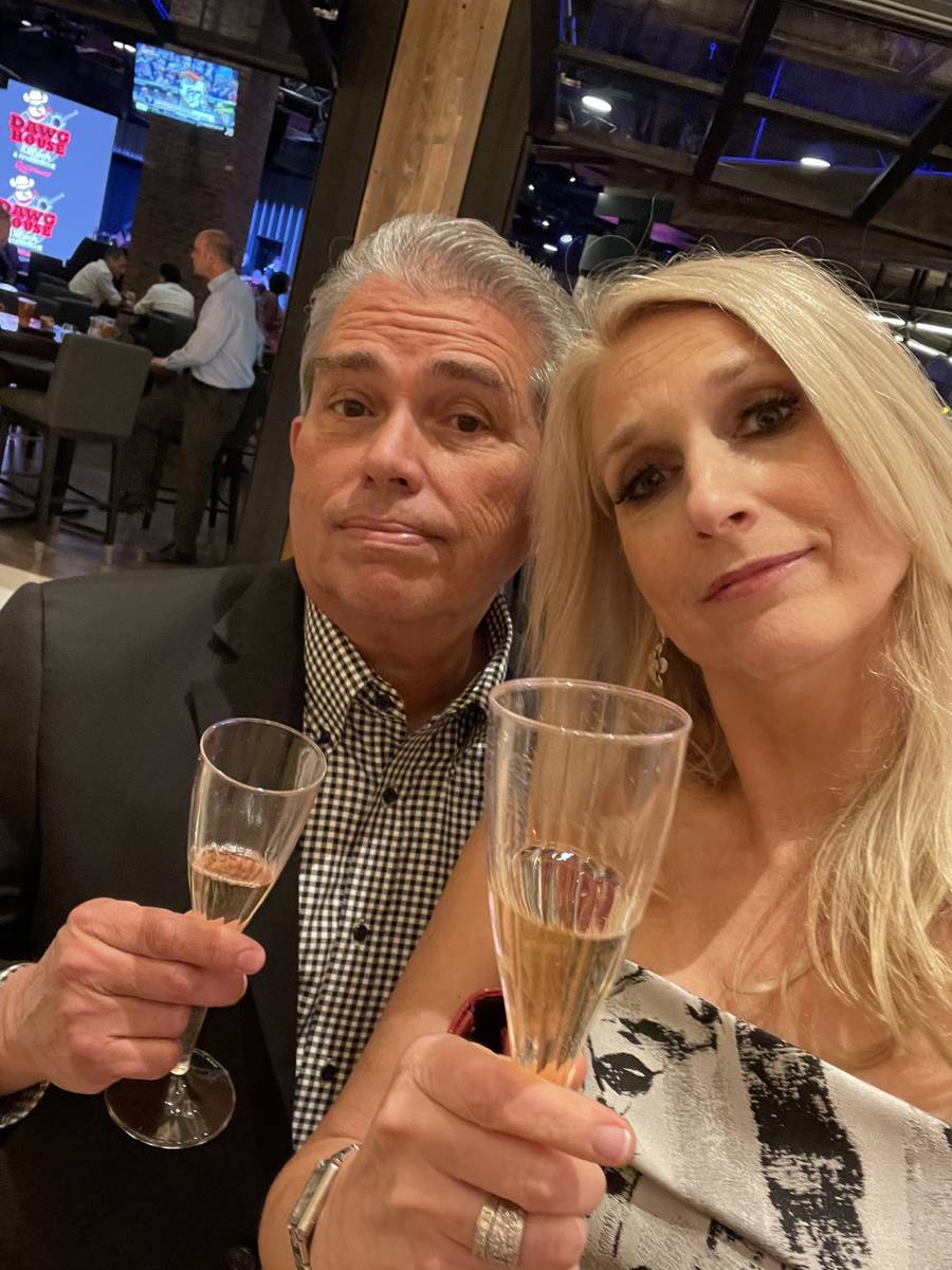 The last of 37 selfies the night taken by Westgate Las Vegas President and General Manager Cami ...