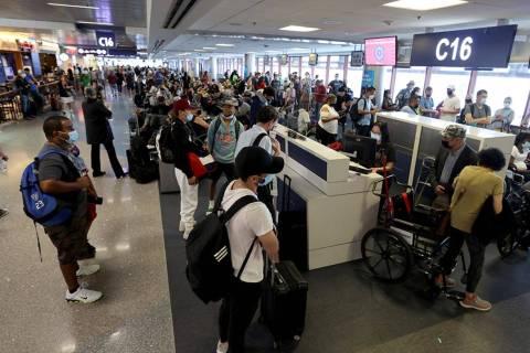 More than 3.5 million travelers passed through McCarran International Airport's gates in May, r ...