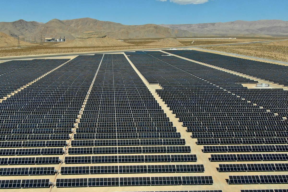 MGM's 100 megawatt Mega Solar Array, located on 640 acres north of Las Vegas, will furnish po ...