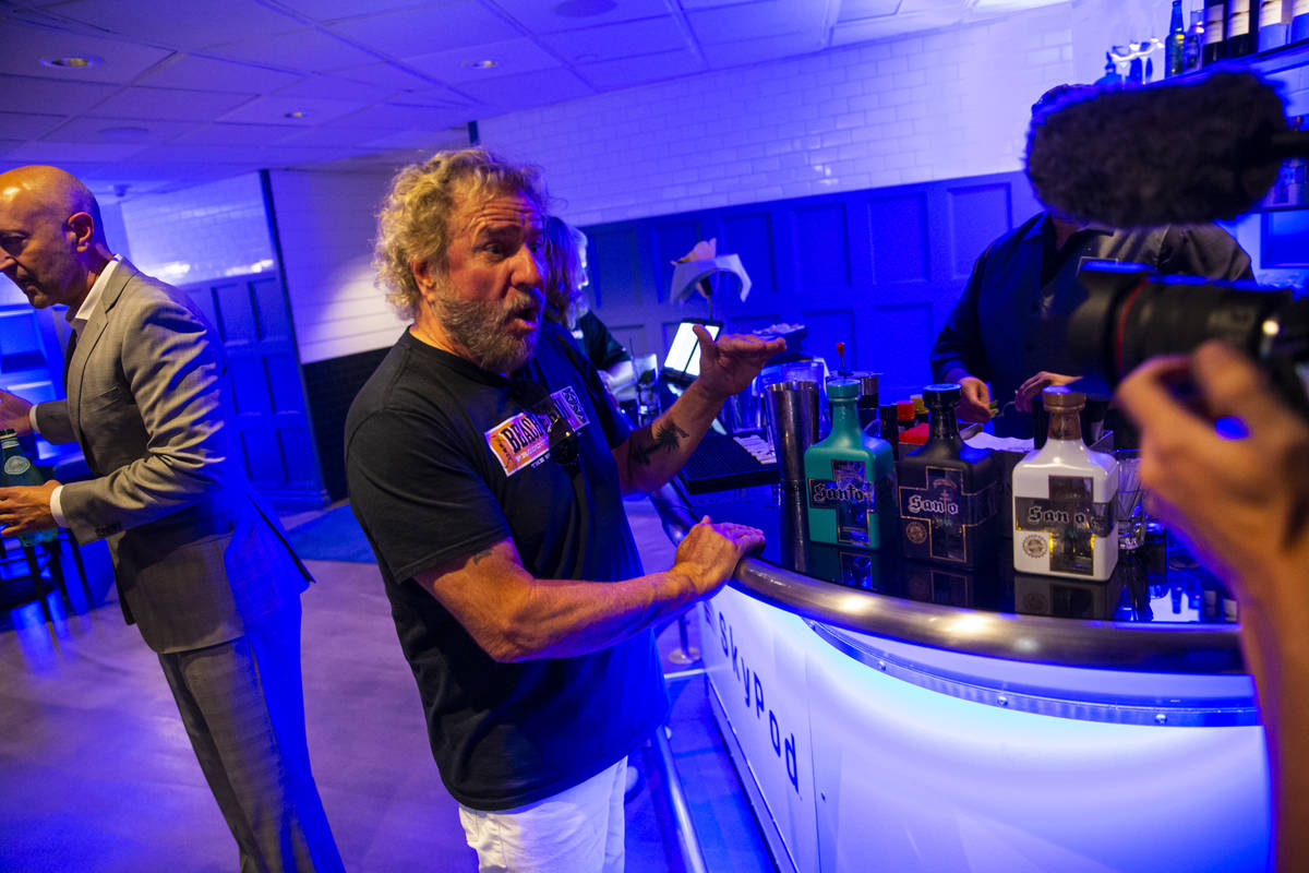 Sammy Hagar talks about his newly announced residency at The Strat, slated to begin Oct. 29, in ...