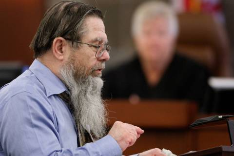 John M. Watson appears in court for the sentencing phase of his trial in Las Vegas, June 1, 201 ...