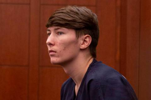 Noah Hadley, who fatally shot his girlfriend, Amelia Claypool, is seen before his sentencing at ...