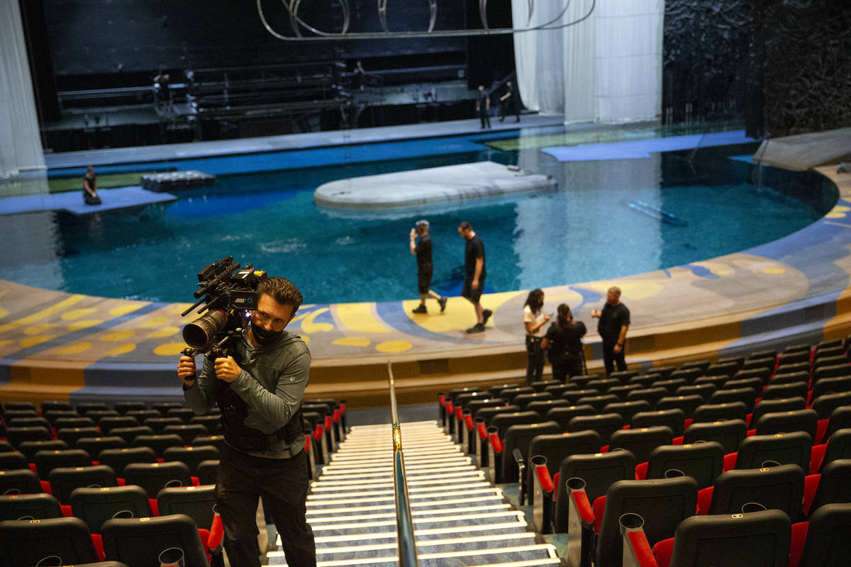 "Mark Matusiak, a camera operator for a documentary crew making a film about ""O,"" leav ..."