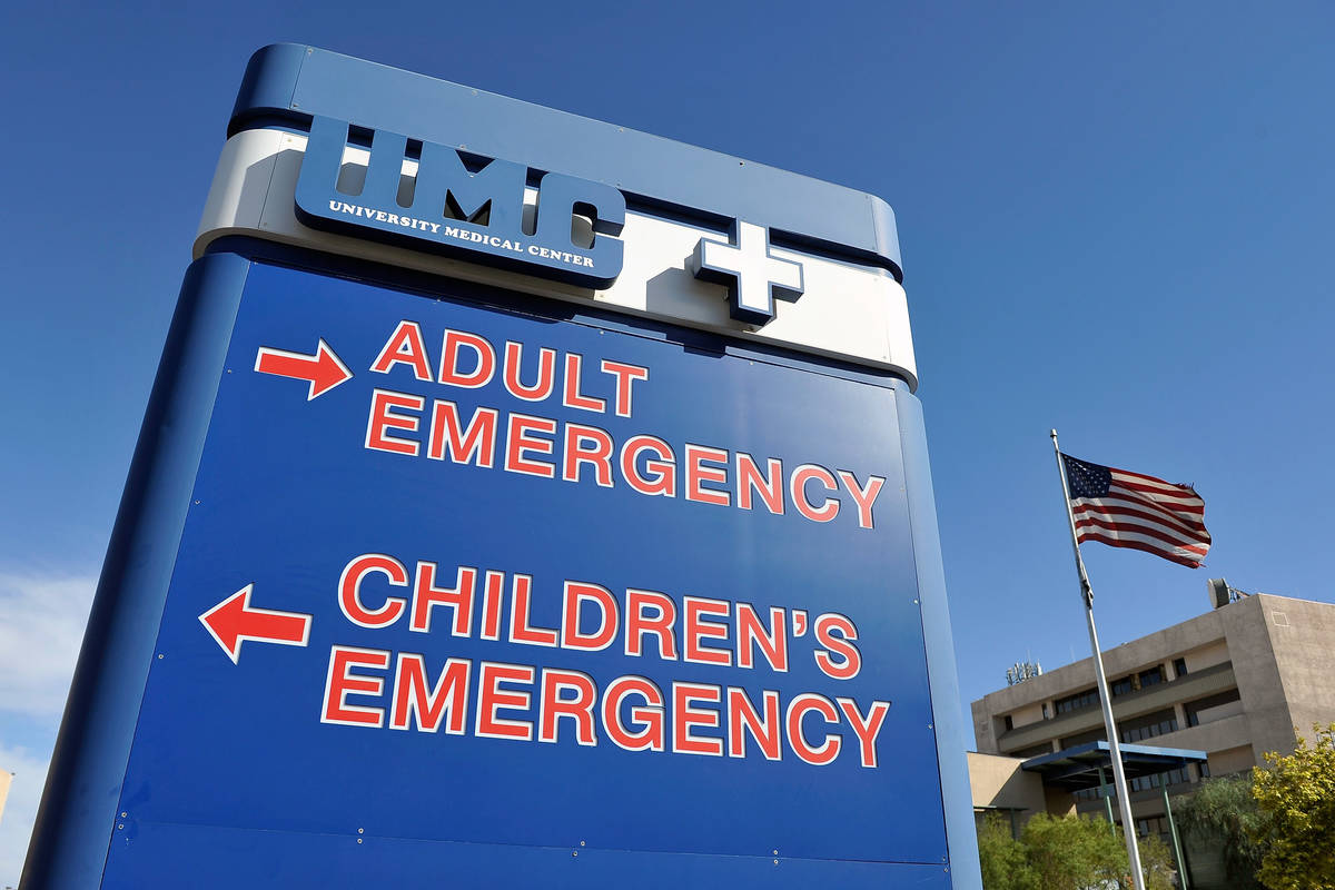 University Medical Center in Las Vegas. (Review-Journal file photo)