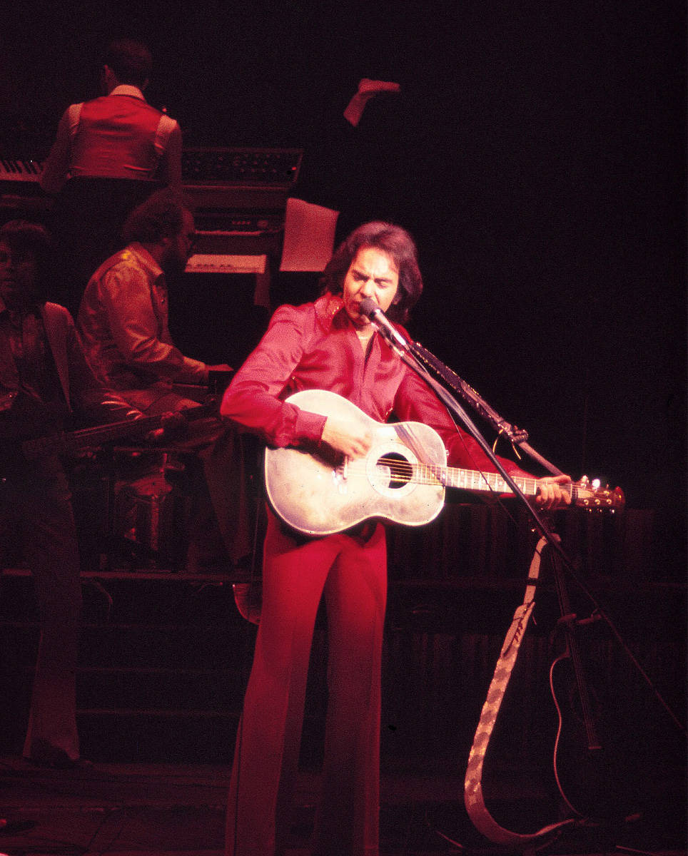 Neil Diamond opens the Aladdin Theater for the Performing Arts on July 2,1976. By Jessie Eastl ...