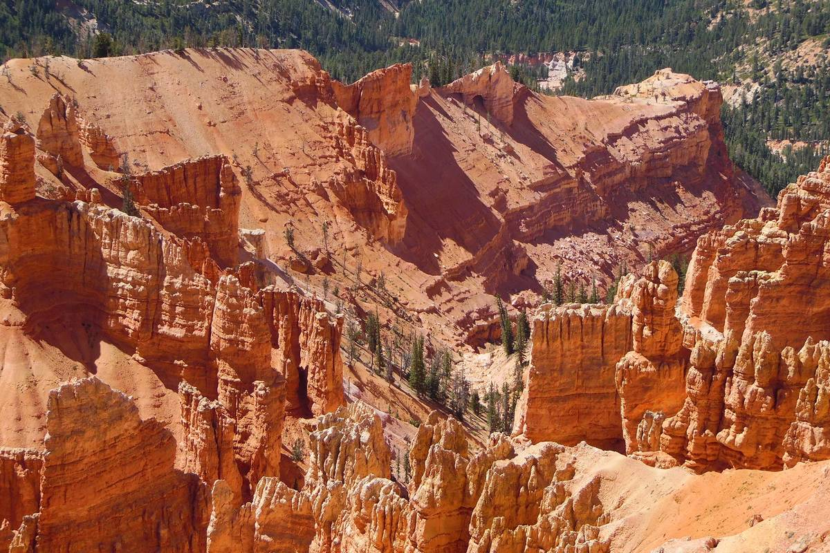 Fins and hoodoos are among the geologic formations found at Cedar Breaks National Monument. (Na ...