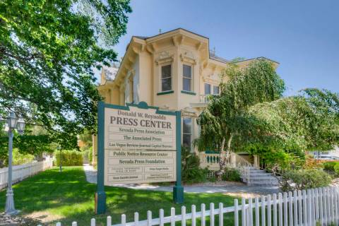 The Nevada Press Foundation has listed its headquarters building at 102 N. Curry St. in downtow ...