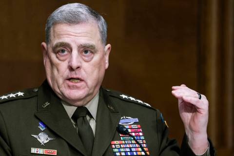Chairman of the Joint Chiefs Chairman Gen. Mark Milley testifies before a Senate Appropriations ...