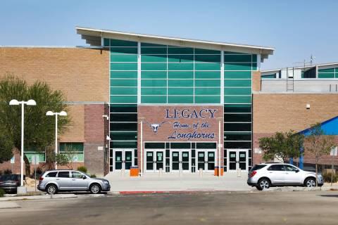 Legacy High School in North Las Vegas. (Rachel Aston/Las Vegas Review-Journal) @rookie__rae
