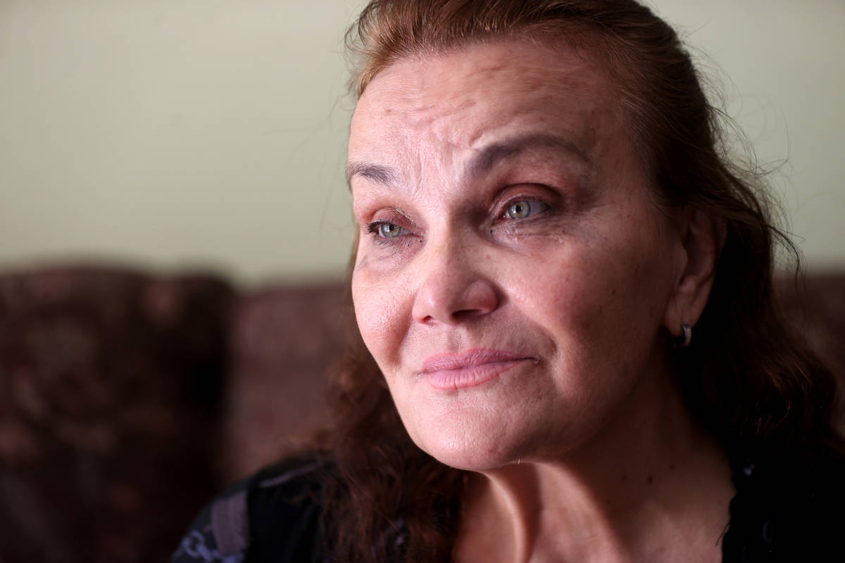 Lyubov Abato at her Las Vegas home Friday, June 2, 2021. Abato said her health is deteriorating ...