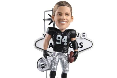 FOCO unveiled a new bobblehead Friday featuring the Raiders' defensive end in his gameday best ...