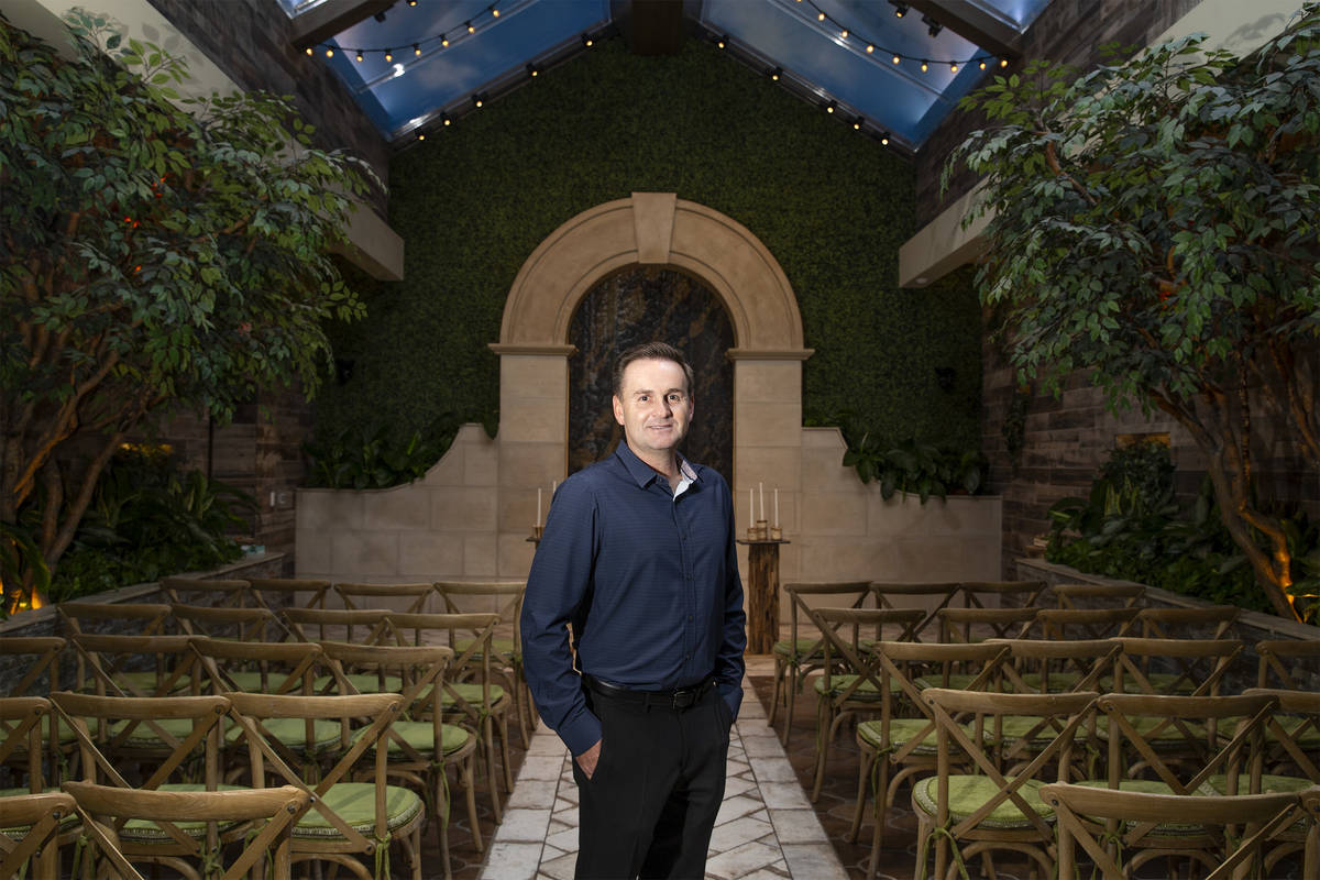 Donne Kerestic, CEO of Chapel of the Flowers, at the Las Vegas Boulevard wedding venue on Frida ...
