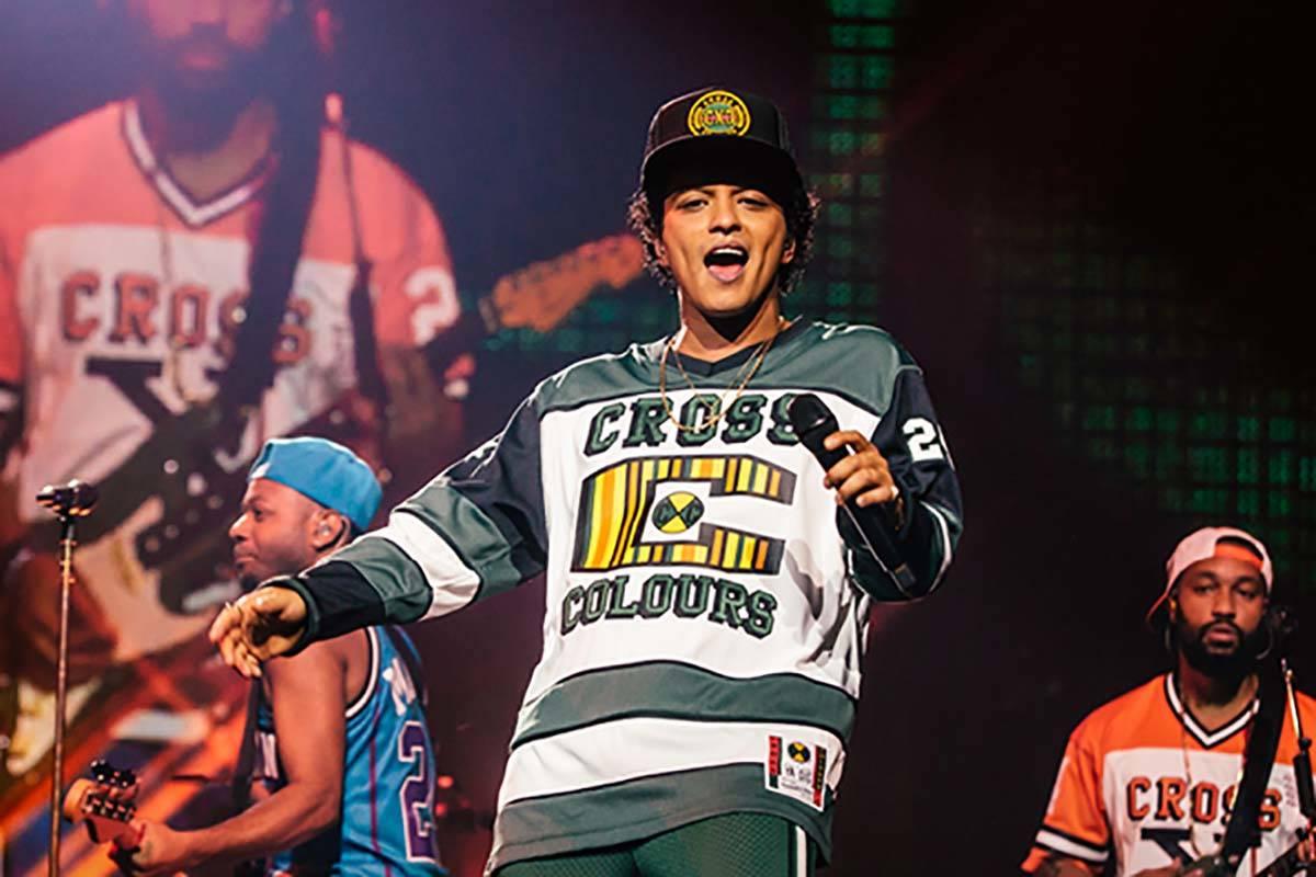 Bruno Mars is back at Park Theater at Park MGM. (MGM Resorts International)