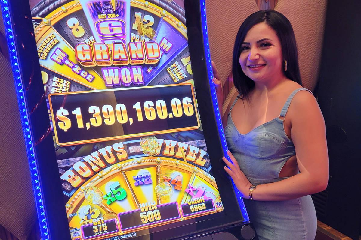 Graciela P. of Santa Clarita, California, won $1,390,165.06 after hitting the Buffalo Grand pro ...