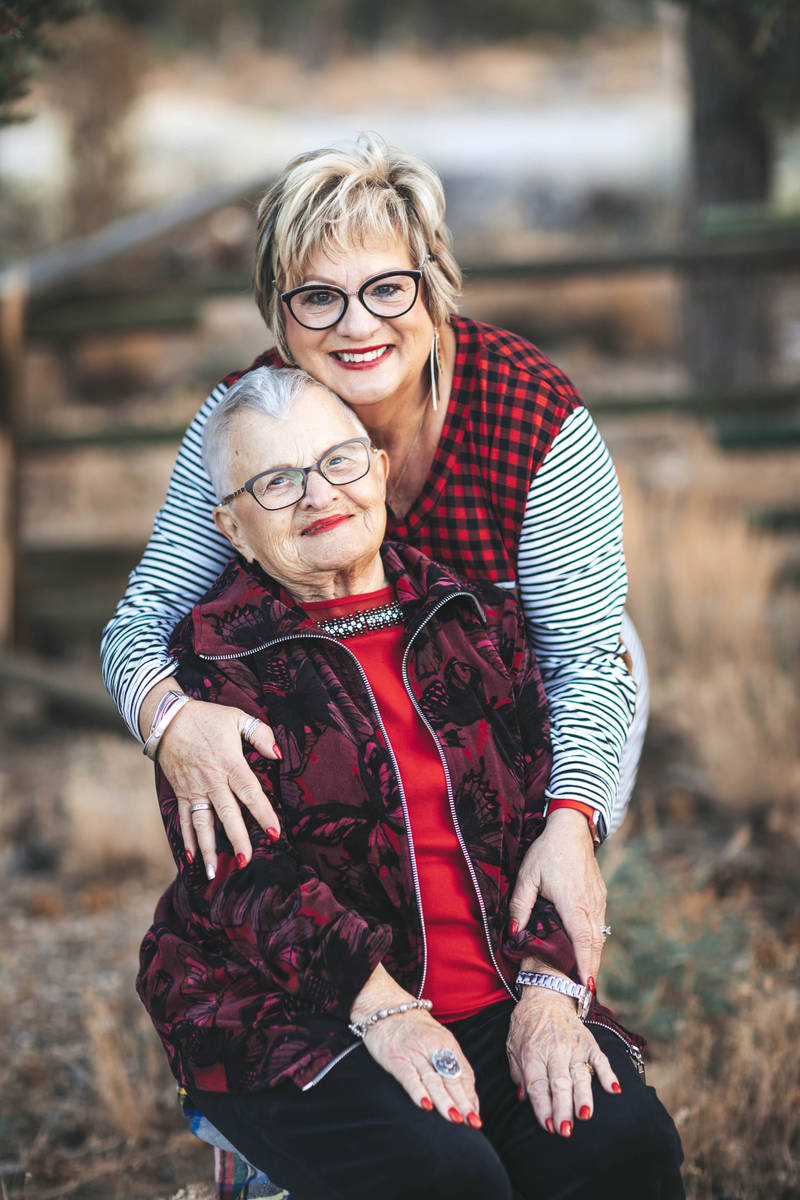 Arlene Johnson, who will turn 100 on Saturday, is pictured with her daughter Nancy LaPointe. (N ...
