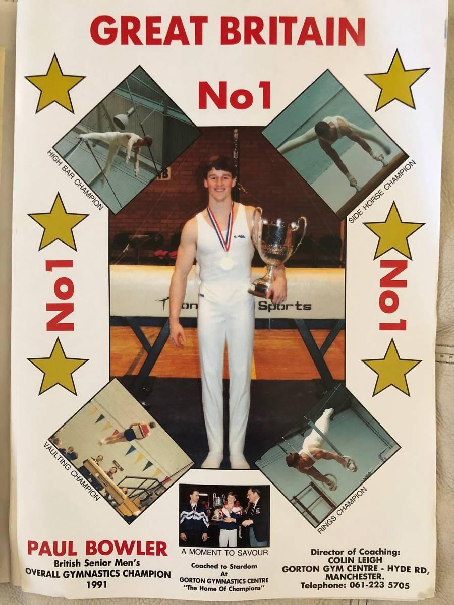 A pre-1992 Summer Olympics flier lists Paul Bowler's achievements. (Courtesy Paul Bowler)