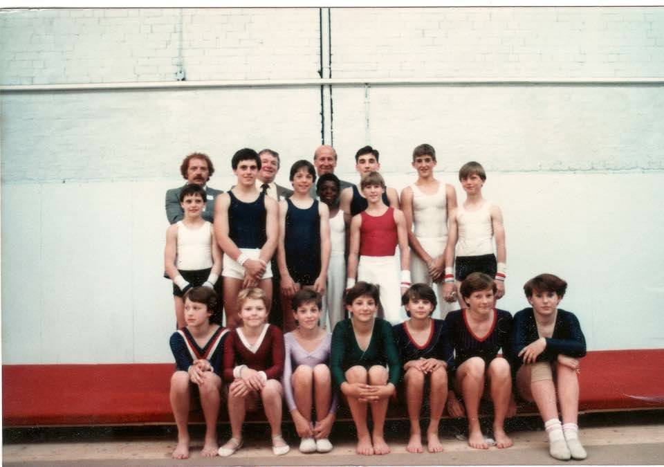 A 16-year-old Paul Bowler, in red, poses for a photo with fellow members of the Central Manches ...