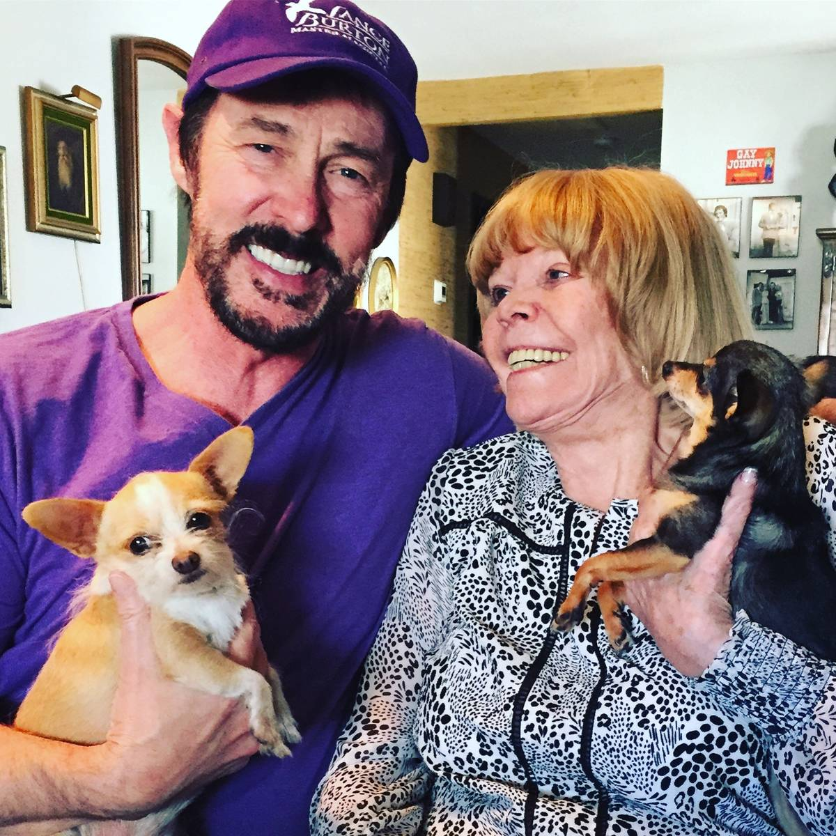 Lance Burton and Pam Thompson are shown with the chihuahuas Molly and Georgie in this photo fro ...