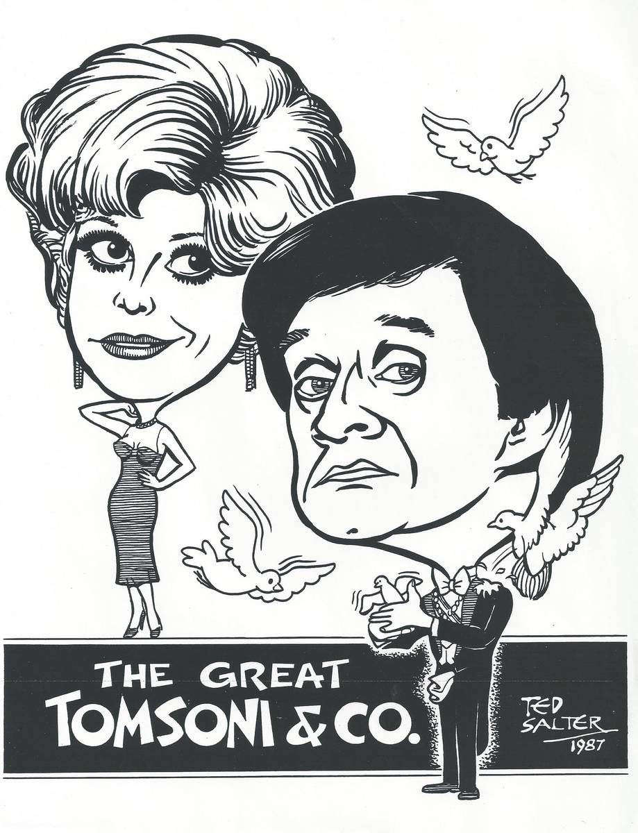 Johnny Thompson and Pam Thompson are shown in a promotional flyer from the 1970s. (Lance Burton)