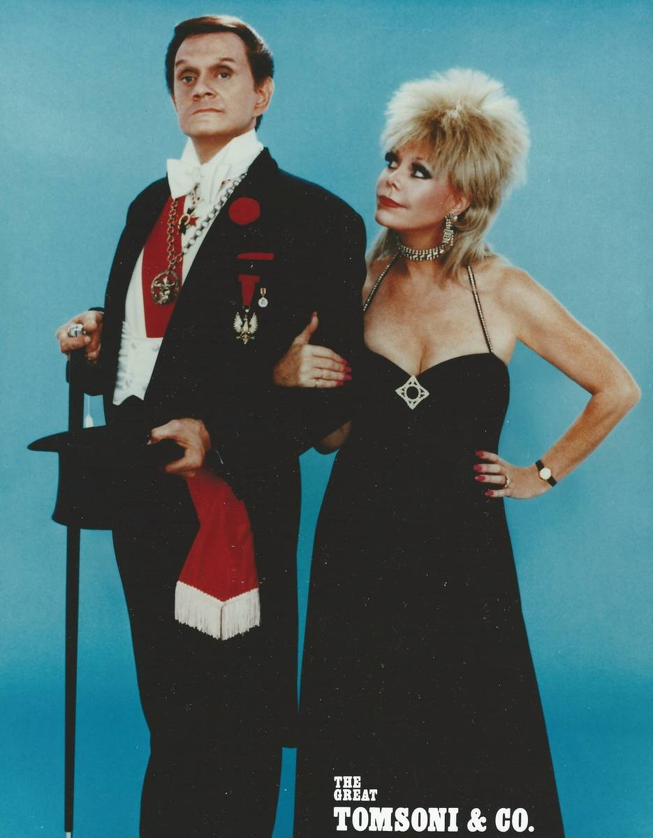 Johnny Thompson and Pam Thompson are shown in a promotional photo from the 1970s. (Lance Burton)