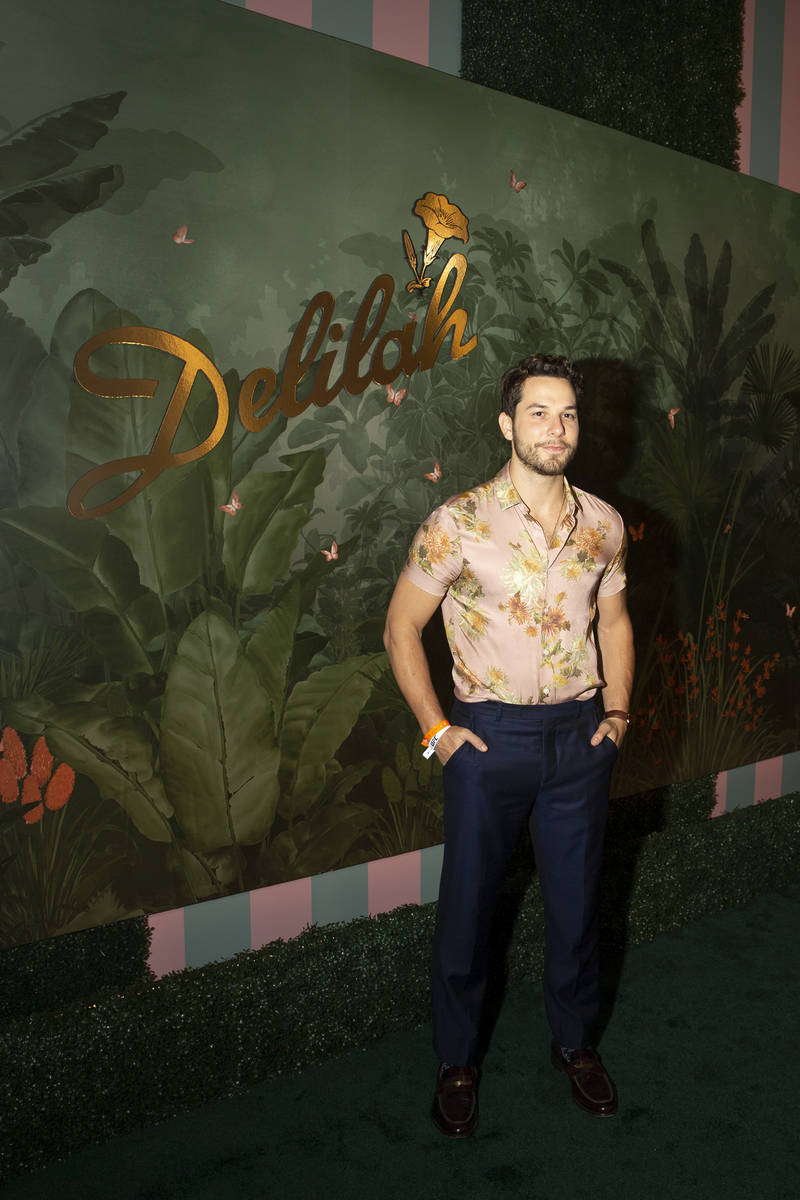 Actor Skylar Astin poses for photographers upon arrival at the grand opening party of Delilah a ...