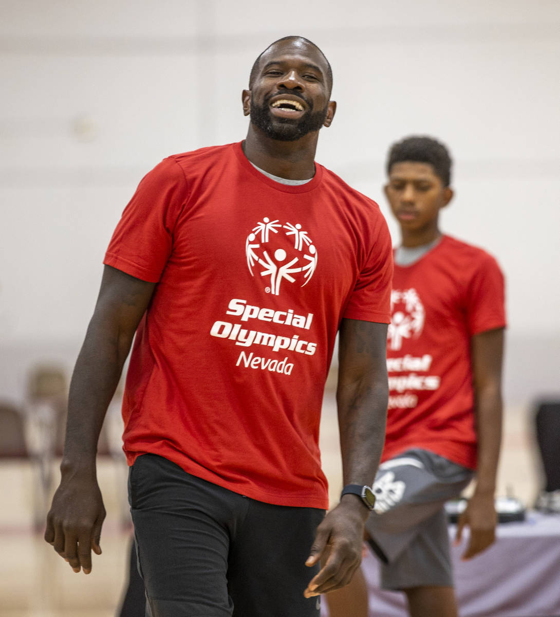 Special impermanent  and two-time NBA Slam Dunk Champion Jason Richardson laughs with immoderate   of the play   ...