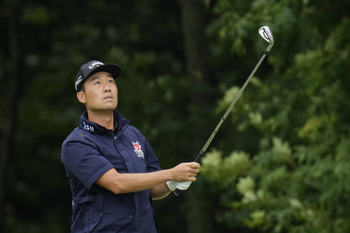 Kevin Na hits on the sixth fairway during the final round of the John Deere Classic golf tourna ...