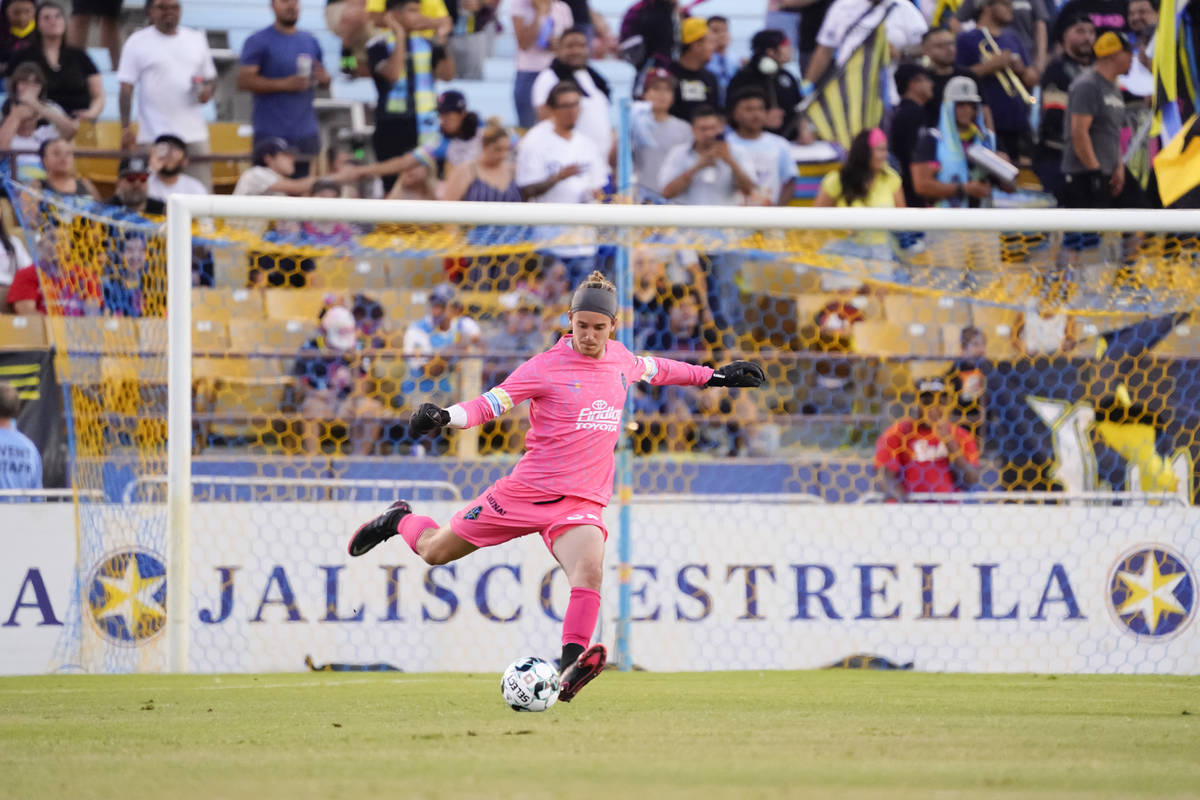 Goalkeeper Alexander Rando is starting to become a staple between the sticks for the Las Vegas ...