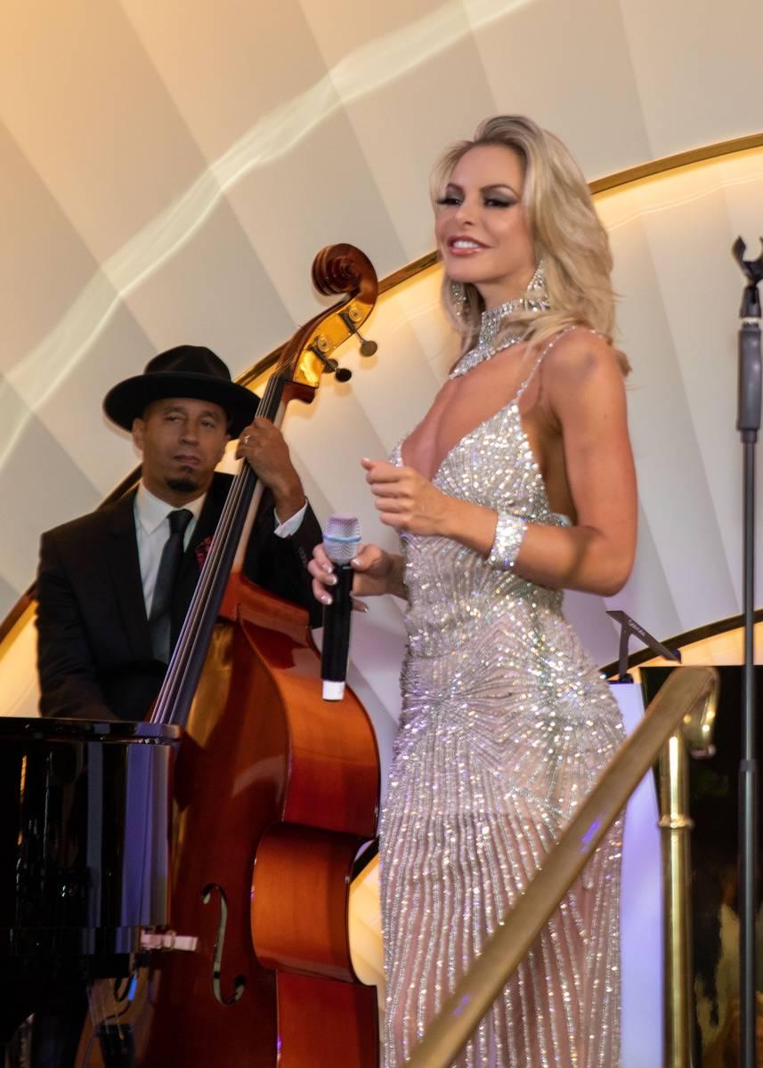 Savannah Lynx and Ryan Cross are shown at Delilah at Wynn Las Vegas on Thursday, July 8, 2021. ...