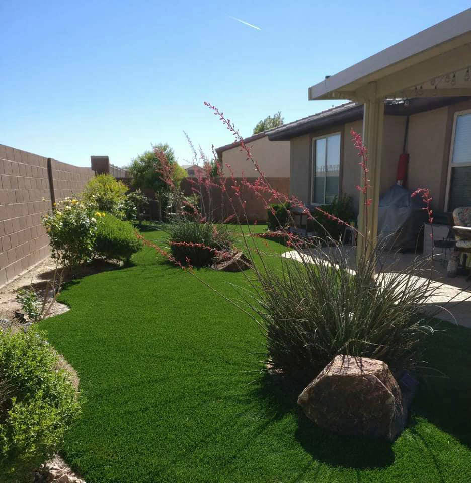 Artificial grass is much more resilient than natural grass. It will resist the constant pressur ...