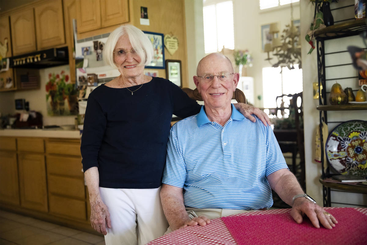 Gary Robinson and his wife Judy Robinson at their home in Las Vegas, Tuesday, June 15, 2021. Ju ...