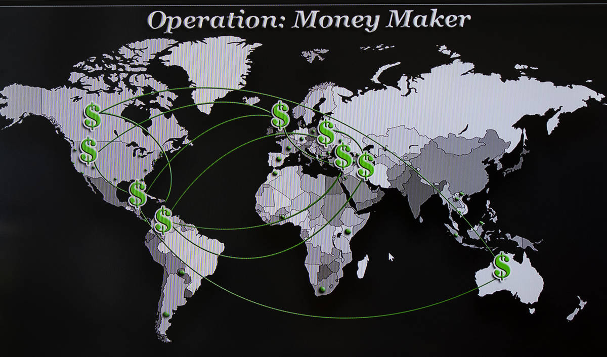 """Participating countries in """"Operation Money Maker,"""" targeting an alleged drug trafficking and m ..."""