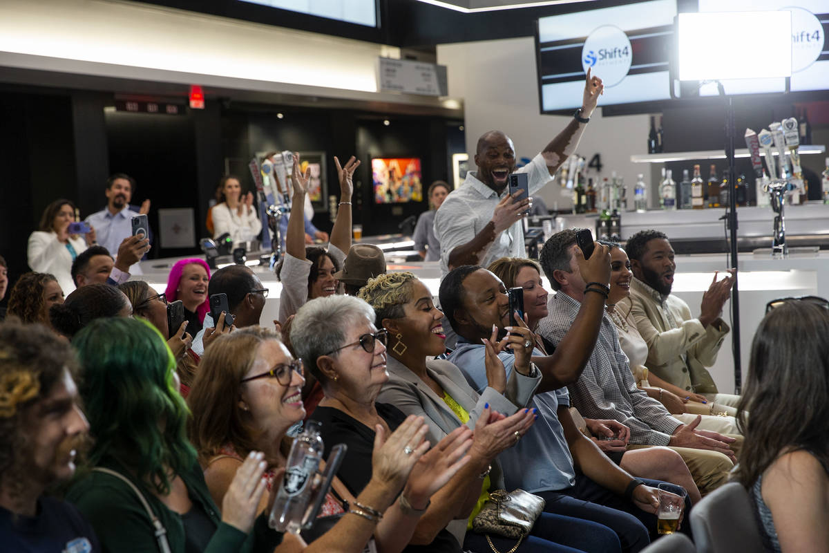 """The crowd cheers as Any Occasion Baskets wins the """"Small Business Showcase,"""" a prize sponsored ..."""