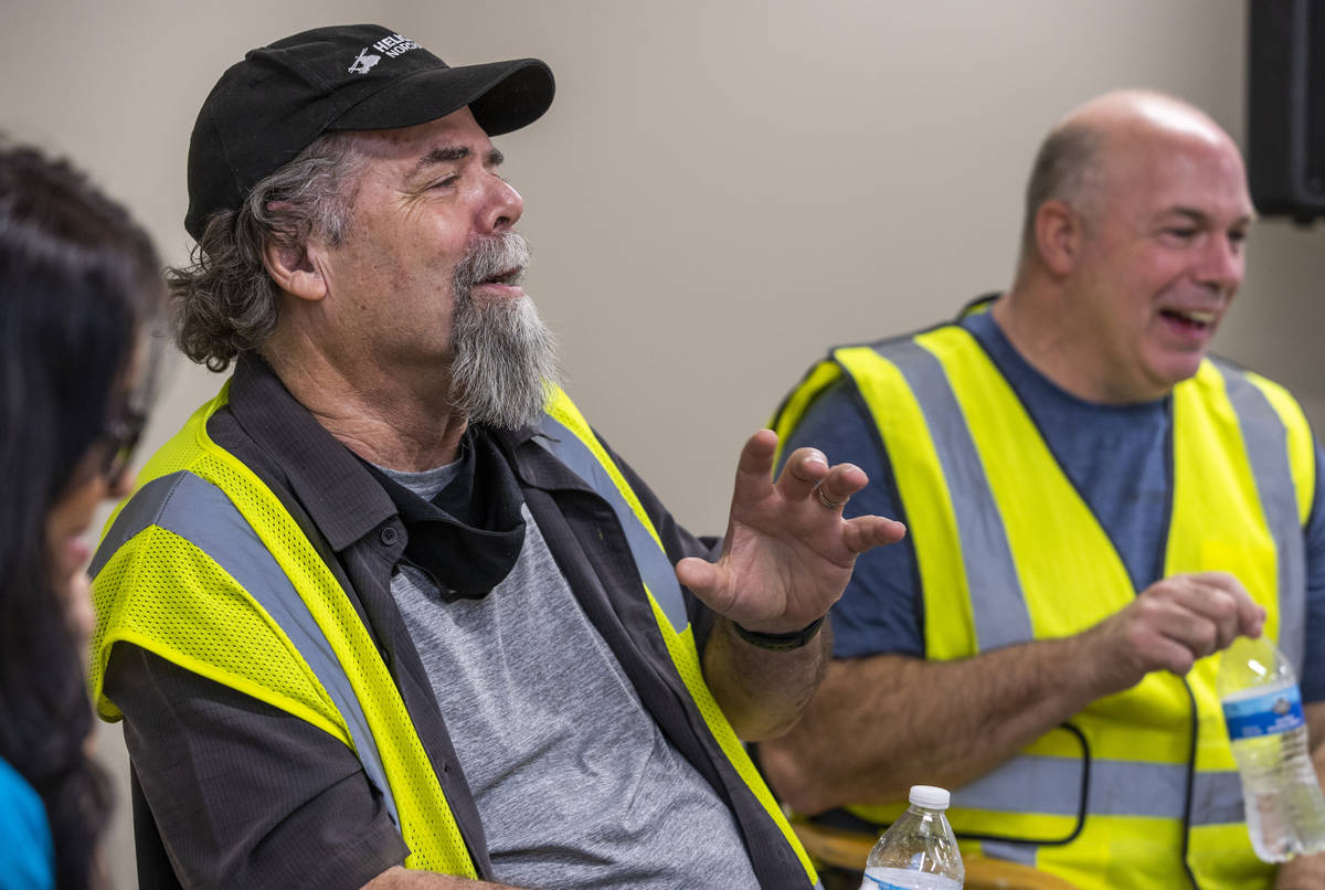 Creative Director Rick Rothschild, left, and General Manager Jack Kenn talk about working on th ...
