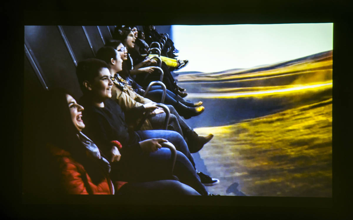 """An image from a teaser video during the FlyOver """"Flight Ride Experience"""" media tour l ..."""