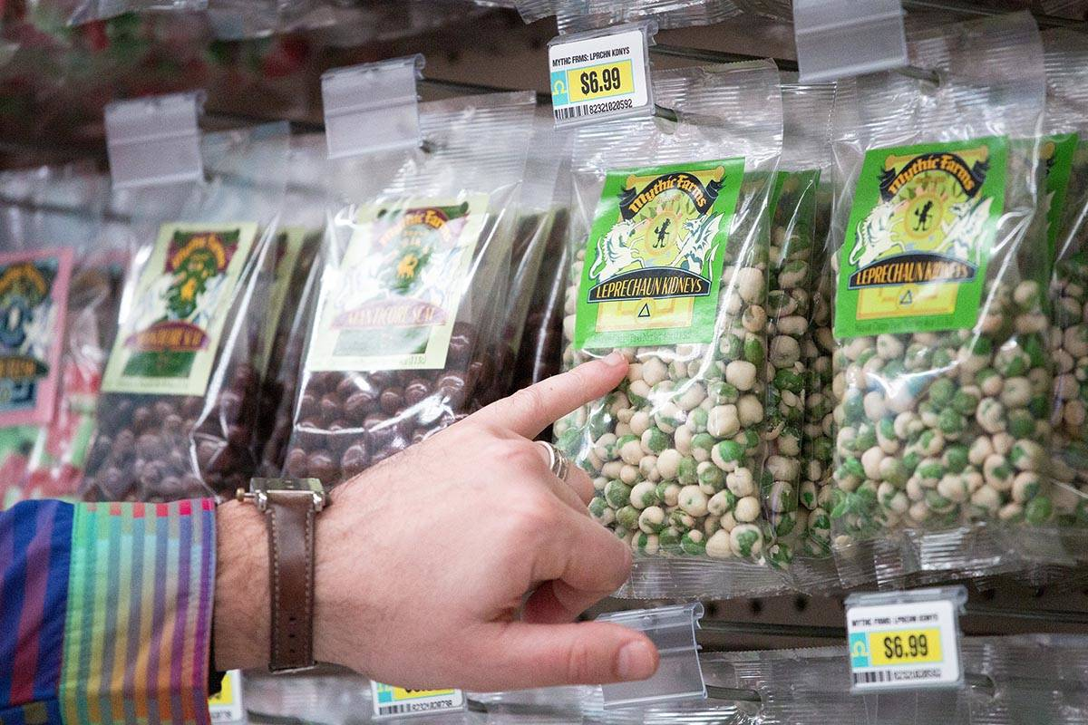 Leprechaun kidneys are for sale at the Omega Mart at AREA 15 on Tuesday, Feb. 16, 2021, in Las ...