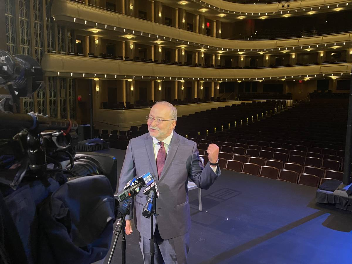 Smith Center President Myron Martin is shown after the ceremonial dimming of the ghost light 48 ...