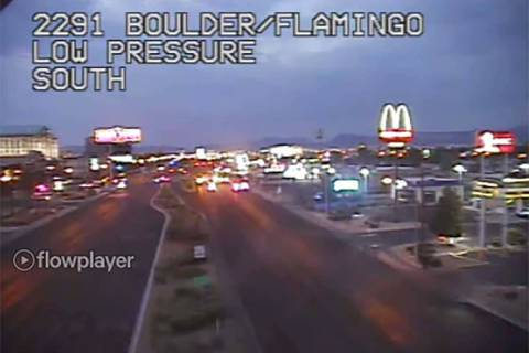 Two thoroughfares in the eastern Las Vegas Valley were closed early Thursday due to a possible ...