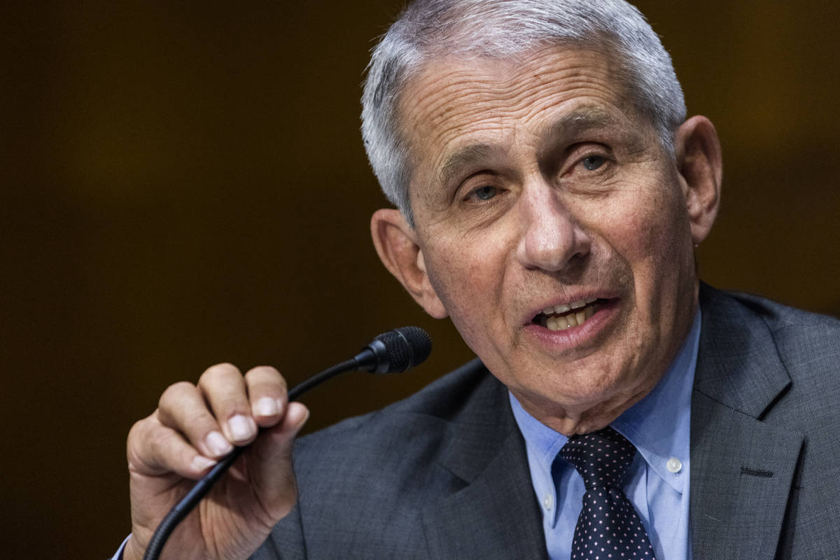 Dr. Anthony Fauci, director of the National Institute of Allergy and Infectious Diseases, speak ...