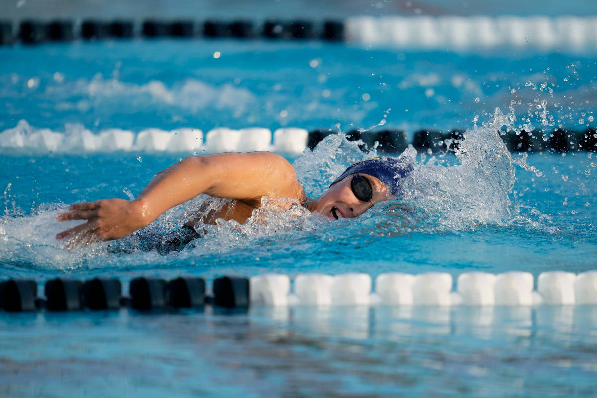 Erica Sullivan competes in the women's 800 freestyle at the U.S. Open swimming championships Th ...