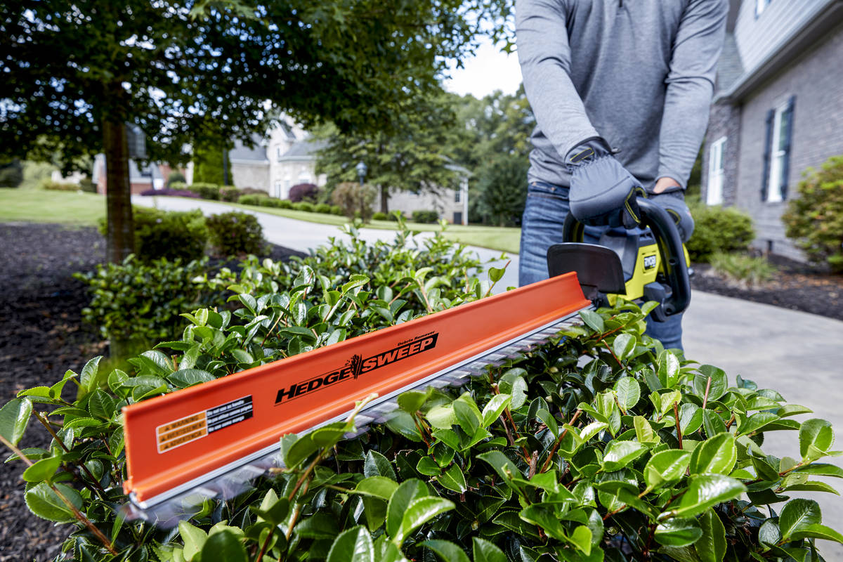 Ryobi The 40-volt Ryobi 26-inch brushless hedge trimmer is easier to maneuver than corded trimmers.