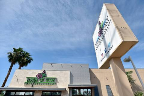 Lotus of Siam restaurant is seen along East Flamingo Road on Friday, May 11, 2018, in Las Vegas ...