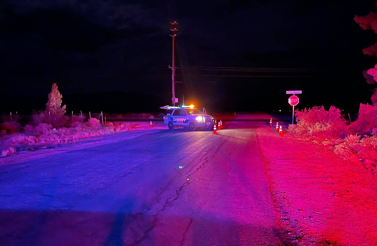 An armed standoff and hostage situation in Pahrump late Sunday, July 18, 2021, ended in an arre ...