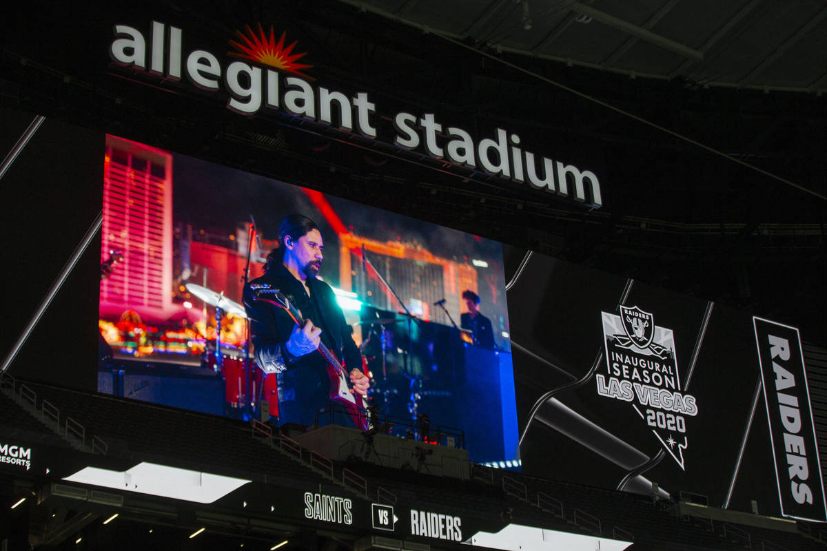 The Killers concert on The Strip is televised during halftime of an NFL football game between t ...